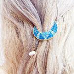Оригинал Sweet Shiny Moon Beads Tassels Волосы Клип Волосы Аксессуары