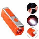 Оригинал 3W оранжевый USB аккумуляторная ветрозащитная прикуриватель LED Emergency Кемпинг Light Flashlight