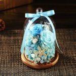 Оригинал ВечныйцветокСвежаяконсервированнаярозас стеклянной крышкой для бутылок Свадебное Главная Сторона Авто Украшения Вечны