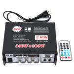 Оригинал 300W Bluetooth Мощность Усилитель Главная Караоке FM Радио с Дистанционное Управление USB SD