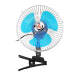 Оригинал 8 Inch 12V Mini Electric Oscillating Air Cooling Fan Clip Conditioner Cooler Fan For Auto Truck