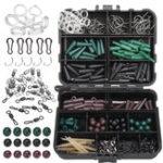 Оригинал ZANLURE174PcsАссортикарпРыбалкаКомплекты аксессуаров для навесов Крючки Sinker Combo Rigs Коробка