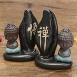 Оригинал Будда Backflow Благовония Конусная катушка Держатель горелки Буддистский монах Зазен Ароматный дымовой патрубок с обратным потоком