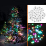 Оригинал 50PCS Mini White Coloful LED Ball Holiday Light для Свадебное Party Birthday Festival Домашнее украшение