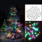 Оригинал 50PCS Mini White Coloful LED Ball Holiday Light для Свадебное Party Birthday Festival Домашнее украшение