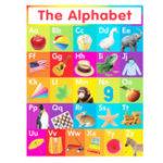 Оригинал 60×90см ABC Alphabet Узнайте, что представляет собой детский учебный шелк, плакат Art Room Bedroom Home Decor