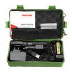 Оригинал XANESA100XMLT6800Lumens5Modes Яркость Zoomable Tactical LED Фонарь + зарядное устройство + Батарея Зарядное устройство