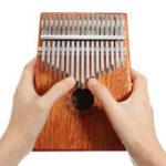 Оригинал 17 ключей Дерево Kalimba Mahogany Thumb Фортепиано Перкуссия с настройкой Hammer