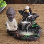 Оригинал Monk Backflow Incense Cone Burner Holder Mountain Stream Буддийский ароматный домашний кадиловый декор