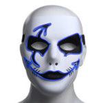 Оригинал ХэллоуинМаскаLEDСветящаясямигающаяпартия Маскаs Осветите танцы Halloween Cosplay