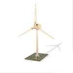 Оригинал W100 DIY Картина Головоломка Солнечная Работает 3D Деревянная Малая Ветряная мельница Модель Деревянная Обучающая Игрушка