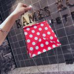 Оригинал Женщины Faux Leather Wave Point Дизайнер Сумка Crossbody Bag