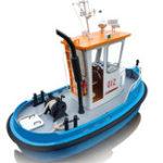 Оригинал 1:18 Pine Mini RC Tugboat Rescue Simulation ABS Деревянный Лодка Модель корабля DIY Набор Набор Q1