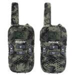 Оригинал 2штRetevisRT3322канала462-467MHz 3KM Camo Mini Handheld Two-way Радио Walkie Talkie Kids