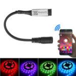 Оригинал LUSTREON 4Pin Smart Bluetooth APP Музыкальный контроллер с DC Коннектор для RGB LED Газовый свет DC5-24V