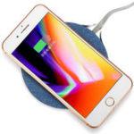 Оригинал Qi Беспроводная быстрая зарядная металлическая ткань для зарядки для iPhone для Samsung 9V 7.5W