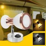 Оригинал Угол регулируемый LED Считывание света Двойные головки Стены Лампа Пятно света Книга Лампа Белый / Теплый белый