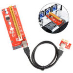 Оригинал USB 3.0 Pcie PCI-E Express 1x до 16x Extender Riser Card Adapter Power BTC Расширительный кабель Mining