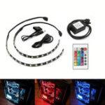 Оригинал ARILUX® 2PCS 30CM SMD5050 RGB LED Газонокосилка Набор для ПК Компьютер с 24 ключами Дистанционное Управление DC12V