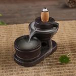 Оригинал Задний держатель для конуса с колбасой с обратным потоком Керамический Каменная мельница Ароматная дымовая труба