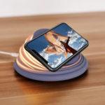 Оригинал Bakeey Colorful LED Настроение мигающего света Беспроводное зарядное устройство для Samsung S8 S9 Note 8 для iPhone 8 X