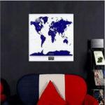Оригинал 1PCНоваягорячаявысококачественнаясветящаясякарта мира Делюкс Персонализированная карта с фотографией путешествия с флю