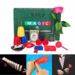 Оригинал  8 видов наборы Trick Волшебный Играть с DVD Обучение Профессиональный Волшебный Tricks Stage Close Up Волшебный Игрушки