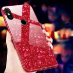 Оригинал BakeeyShellBlingГлянцевоезакаленноестекло Soft Защитная кромка Чехол для Xiaomi Mi8 Mi 8 6,21 дюйма