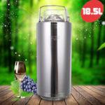 Оригинал 18.5L 304 Нержавеющая сталь Главная Brew Keg Бутылки Growler Свежее производство пива Баррели