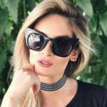 Оригинал Женщины Винтаж Кот Глаз UV400 Солнцезащитные очки с круглой рамкой