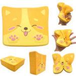 Оригинал  Kiibru Toast Squishy 14 * 11.5 * 4CM Лицензированный медленный рост Soft Гигантская игрушка с упаковкой
