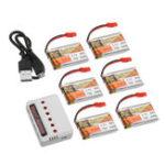 Оригинал 6Pcs ZOP POWER 3.7V 750mAH 30C 1S Lipo Батарея JST Plug с зарядным устройством для модели RC