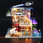 Оригинал Hoomeda Handmake DIY Dollhouse Villa Миниатюрный кукольный домик Модельный домик