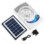 Оригинал 3 В 1 Многофункциональное охлаждение Солнечная Вентилятор 3W Солнечная Панель USB 12LED 110V / 5V Перезаряжаемый вентилятор