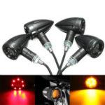 Оригинал 4X Универсальный LED Янтарный + Красный Свет мотоцикл Тормозной фонарь заднего хода работает Лампа