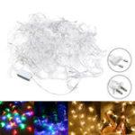 Оригинал 20M Форма луны EU US Штепсель теплый белый Colorful 200 LED String Fairy Light Holiday Decor AC110V AC220V