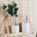 Оригинал Керамический Цветочный горшок + геометрическая металлическая стойка Главная страница Сад Растение Дисплей Stand Holder