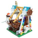 Оригинал Подлинная 520pcs Colorful World Series The Pirate Ship Set Building Blocks Bricks Обучающие игрушки Mod