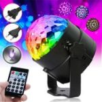 Оригинал RGB Самоходный Flash Режим Дистанционный / Голосовое управление LED Stage Light Crystal Ball Disco Club DJ Part