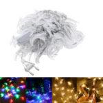 Оригинал 10M Форма луны Теплый белый Colorful 100 LED String Fairy Holiday Light Домашний декор EU Plug AC220V
