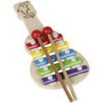 Оригинал IRIN Орф Труба 5 тонов Алюминиевое фортепиано Случайный Шаблон Музыкальный инструмент для детей