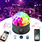 Оригинал SOLMORE Colorful 9W Звуковой активированный USB LED Crystal Ball Stage Light Дистанционный Bluetooth Дискотека