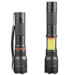 Оригинал XANES1615XMLT6+COB 1000Lumens 5Modes Фронтальные и боковые огни Zoomable Tactical LED Фонарик с магнитным хвостом