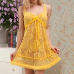 Оригинал Сексуальный Lace Perspective Temptation Полые пижамы Смотреть сквозь задние брекеты Nightdress