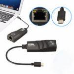Оригинал LEORY USB 3.1 Type C Реверсивный (USB-C) до RJ45 100/1000 Мбит / с Gigabit Ethernet LAN Сетевой адаптер