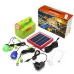 Оригинал Портативный генератор Power Panel Солнечная Светодиодный USB-зарядное устройство Главная система Солнечная Powered System
