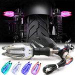 Оригинал 2Pcs 12V Universal LED мотоцикл Индикатор поворота рулевого колеса Лампа