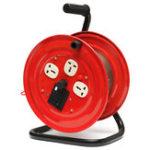 Оригинал 220V Multi-Outlet 3 Plug Heavy Duty Red Электрический удлинитель Катушка для хранения катушек Wind-Up Reel
