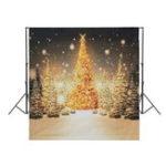 Оригинал 10x10ft снег Sky лес С блестками Рождественская елка Фотография Фон Студия Prop фона