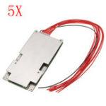 Оригинал 5pcs 37V 42V 10S 45A Li-ion Батарея Система защиты BMS PCB System